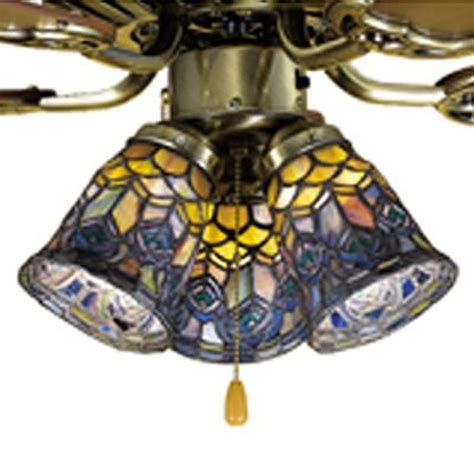 tiffany style ceiling fans with lights shop meyda tiffany peacock feather 4 in h 4 in w peacock