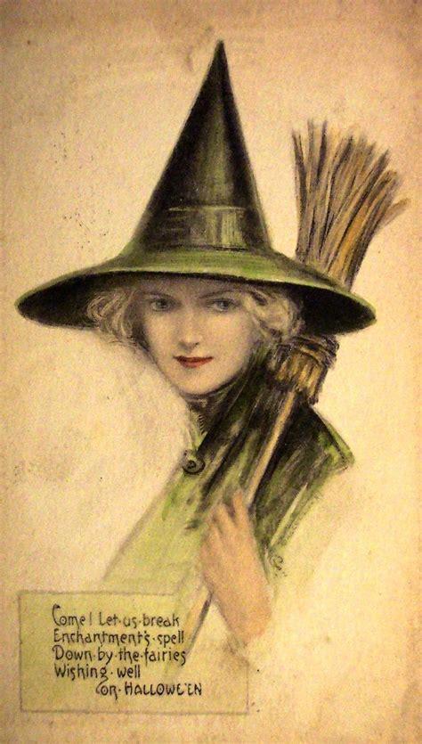 vintage witch postcard vintage halloween cards