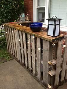 Palette De Bois : faire un bar en bois de palette ~ Premium-room.com Idées de Décoration