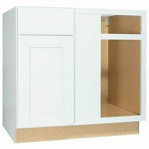 hampton bay shaker assembled 36x345x24 in blind base With home depot white kitchen cabinets 2