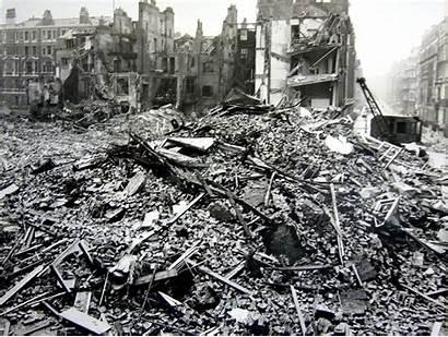 Blitz Damage Street Bomb London Hallam War