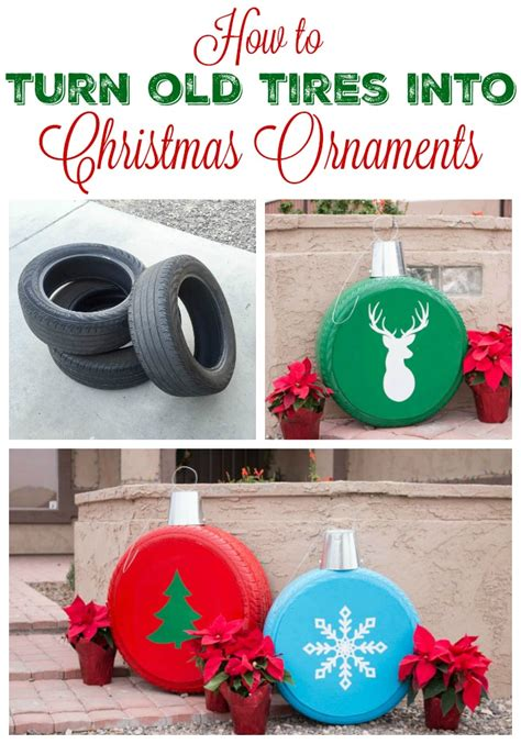 giant christmas ornaments   tires
