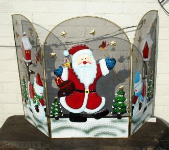 santa fireplace screen decorative screen santa or snowman 39 99
