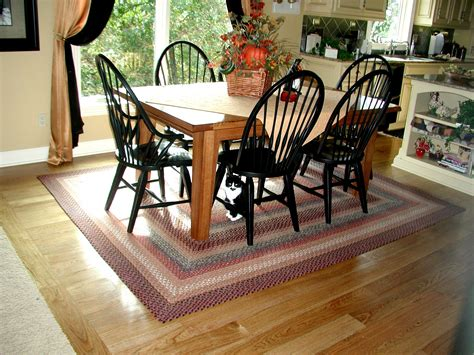 kitchen rug rugs wool braided round area room dining floors knowing tables interior washable dreams