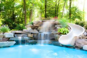 feature wall bathroom ideas water features traditional pool new york by