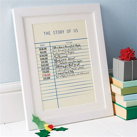 personalised story library card print art  copy