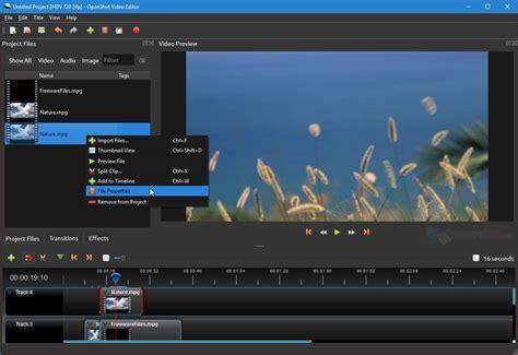 OpenShot Video Editor 2.5.1 Free Download - FreewareFiles ...