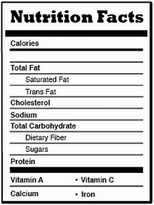 before and after pictures blank nutrition label With blank nutrition facts label template