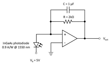 Trans Impedance Amplifier Circuit For Each Photodiode The