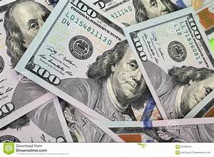 Background Of Money  Close Up Of Dollar Bill  Stock Photo