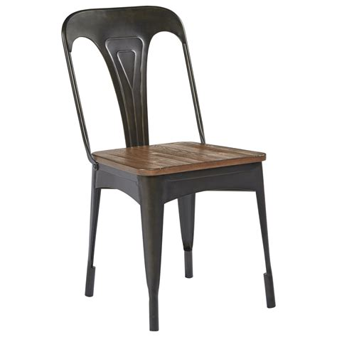 7 table and chair set with metal hairpin legs by