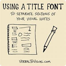 Using A Title Font To Separate Sections Of Your Visual Notes  Verbal To Visual