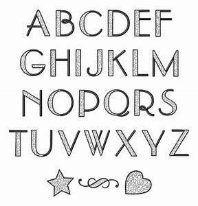 font alphabet 3 tattoos pinterest block letter fonts With block letter embroidery font