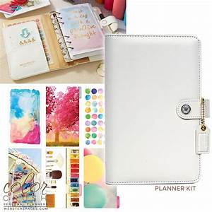 Websters Pages Color Crush White Personal Planner Kit
