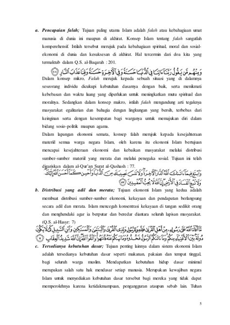Karakteristik dan rancang bangun ekonomi islam