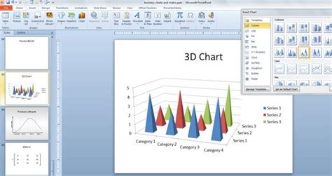 charts  powerpoint