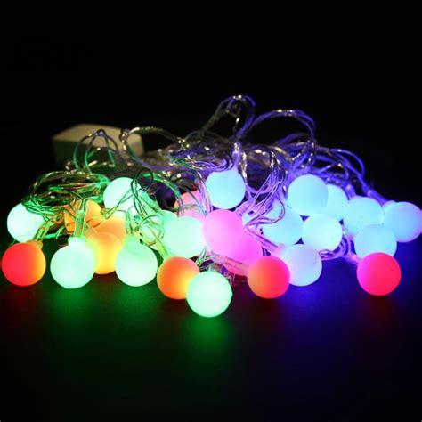 round christmas light bulbs 5 5m 28led bulbs string lights waterproof color decor ebay