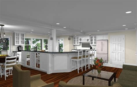 kitchen remodeling design  open floor plan  watchung