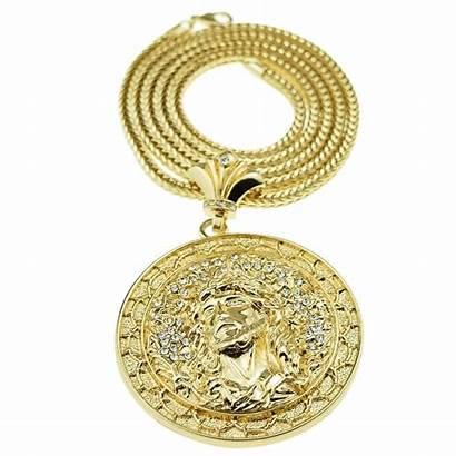 Jesus Gold Chain Medallion Medal Franco Chains