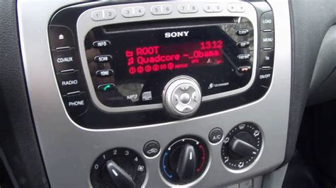 ford sony cd car radio youtube