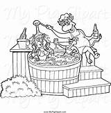 Tub Coloring Template Pig Bbq Clipart Chef Pages Sauce Female Chicken Bull sketch template