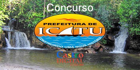 Edital do concurso 2020 da Prefeitura de ICATU - MA ...