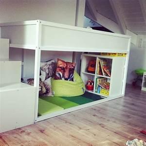Ikea Bett Kinderzimmer : die besten 25 kura bett hack ideen auf pinterest kura bett kura hack und ikea kura ~ Frokenaadalensverden.com Haus und Dekorationen