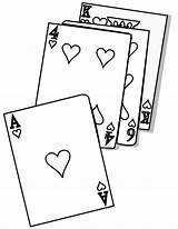 Coloring Cards Pages Playing Card Poker Uno Game Template Cartas Para Imagenes Colorear sketch template