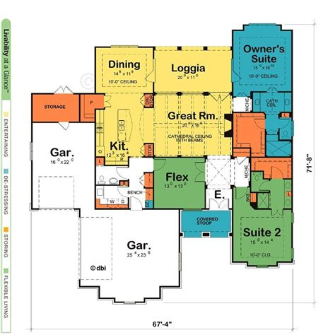 luxury ranch style house plans   master suites