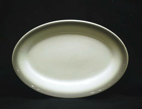laughlin homer china usa ware plate restaurant trim gray