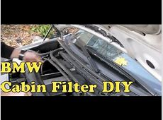 BMW Cabin Air FIlter Replacement E46 3Series
