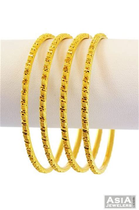22k gold bangles 4 pc ajba56551 22k gold bangles 4 pc with beautifully design and high