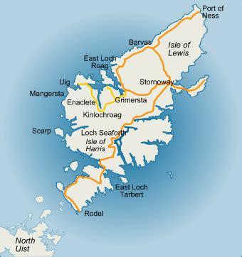 Lewis Island Scotland Map