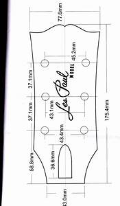 Gibson headstock dimensions images guitar pinterest for Gibson les paul headstock template
