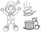 Coloring Pancake Crepes Pancakes Chandeleur Pages Pages18 Activites Coloriages Fuer Maternelles Patisserie Und Theme Bilder sketch template