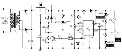 ah smart battery charger  pcb diagram