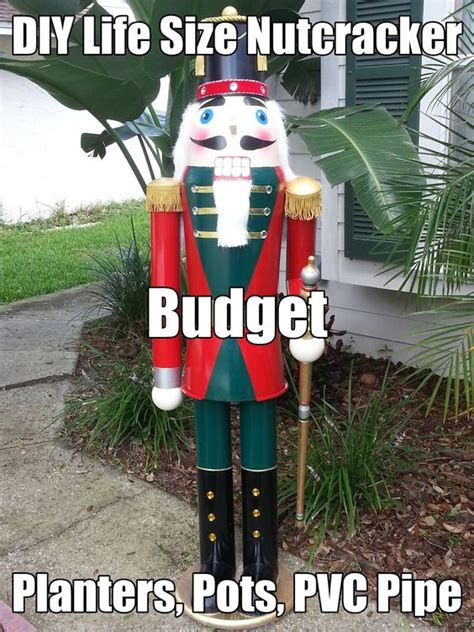 christmas soldier steps to drawyard sign pots planters nutcrackers and budget on