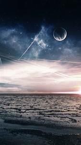 Wallpaper, Sea, 5k, 4k, Wallpaper, Ocean, Night, Moon