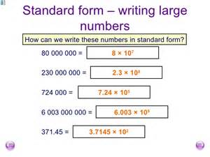 Scientific Notation To Standard Form Worksheet Fishlock Lesson One Standard Form