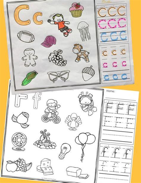 alphabet sounds  letter formation color  trace