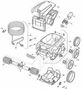 Zodiac V3 Vx40 2wd Robotic Motor Block R0637800  U2022 Poolequip