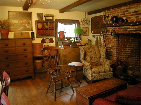 primitive country home decor with wall and furniture style