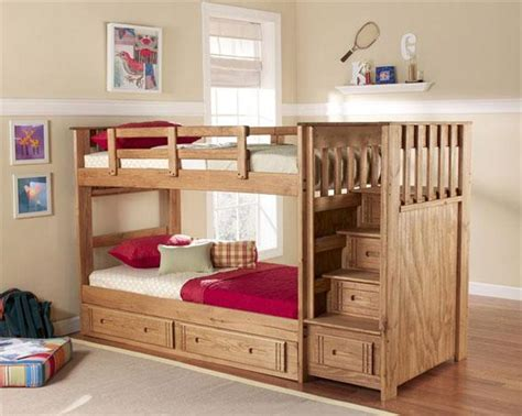 bunk bed plans with stairs how to build a stackable bunk bed diy woodworking projects