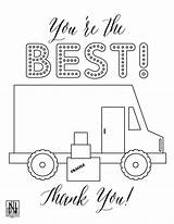 Coloring Sheet Delivery Pdf Grocery Sheets Downloadable Driver sketch template