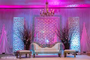 Simple Mehndi Stage Decoration by Reception In Mountain Lakes Nj Indian Wedding By Ksd