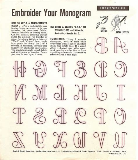 sew  monogram note   letters heres  youll   print