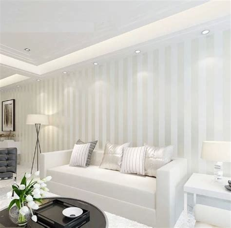 Striped Wallpaper Living Room Ideas by Striped Living Room Wallpaper Gallery