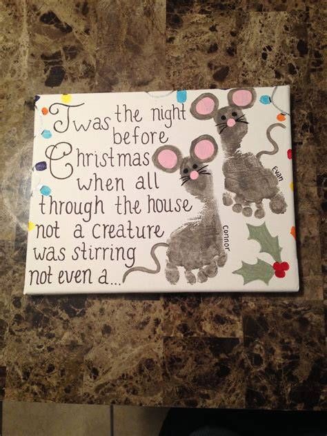 Thumbprintfootprint Christmas Canvas Finished Products