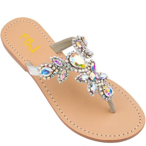 colorful sandals colorful jeweled sandals flat summer flip flops for
