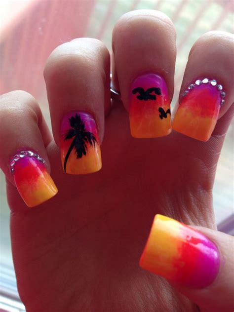 tropical nail designs 15 cool tropical nail designs for summer